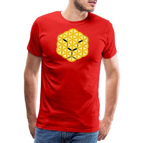 The Jaguar Face of life - Sacred Animals, Face 01 - Men's Premium T-Shirt