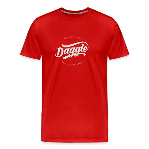 Daggies LOGO Serigraphie blanc - T-shirt Premium Homme