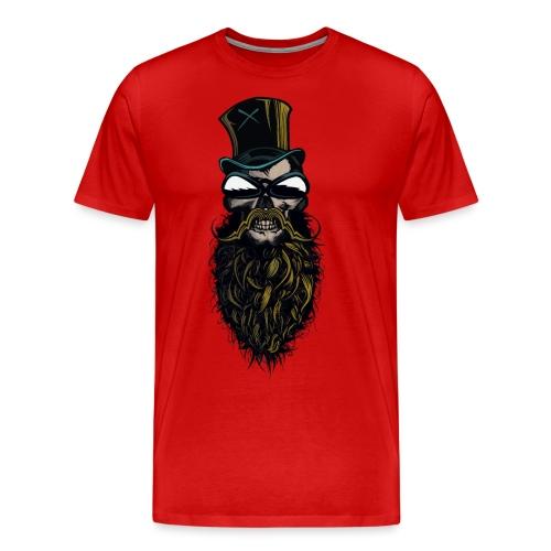 tete de mort hipster crane skull barbu moustachu b - T-shirt Premium Homme