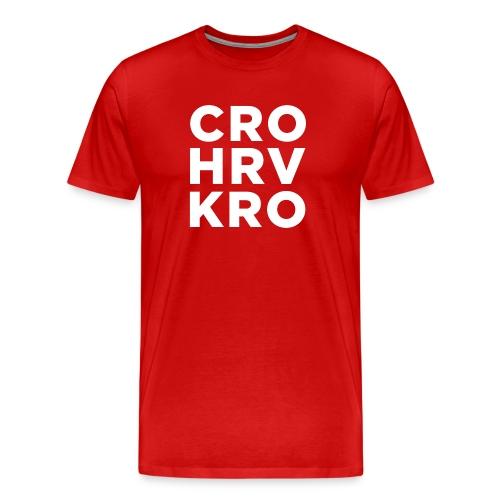 Croatia Hrvatska Kroatien Za dom Spremni Mi Hrvati - Männer Premium T-Shirt