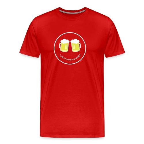 Bier Smiley – Oktoberfest – Bierzelt – Aprèski - Männer Premium T-Shirt