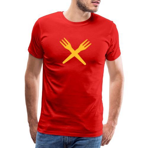 gekruiste frietvorken - trident - T-shirt Premium Homme