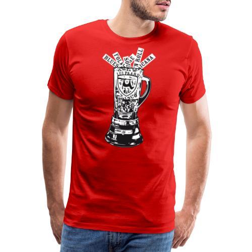 Lui Paard Blender artwork BW2 - Mannen Premium T-shirt