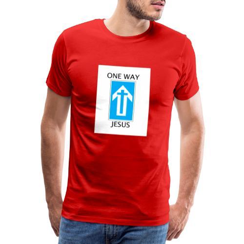 One Way, Jesus - Men's Premium T-Shirt