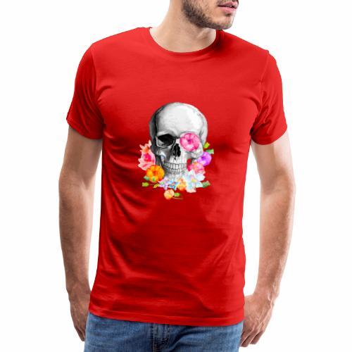 teschio flower - Maglietta Premium da uomo