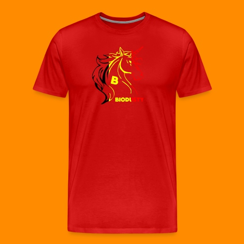 belgian biodusty unicorn hoodie unisex - Mannen Premium T-shirt