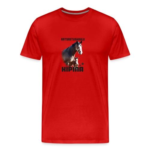 Kipinän selkäpainatus - Miesten premium t-paita