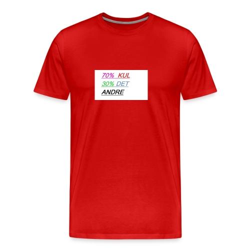 kul - Premium T-skjorte for menn