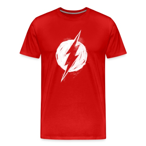 Justice League Flash Logo white - Männer Premium T-Shirt