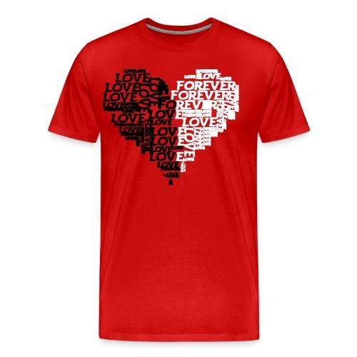 Valentiensdayliebe Liebe - Männer Premium T-Shirt