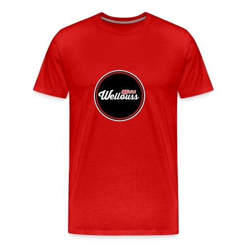 Wellouss Fan T-shirt | Rood - Mannen Premium T-shirt
