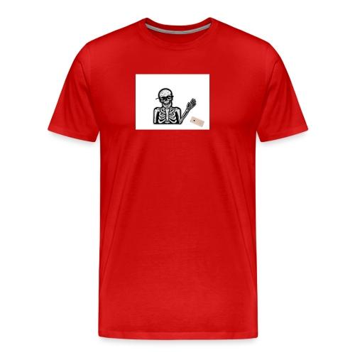 MLG Skelett tappar mobilen - Premium-T-shirt herr