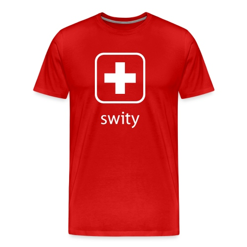 Schweizerkreuz-Kappe (swity) - Männer Premium T-Shirt