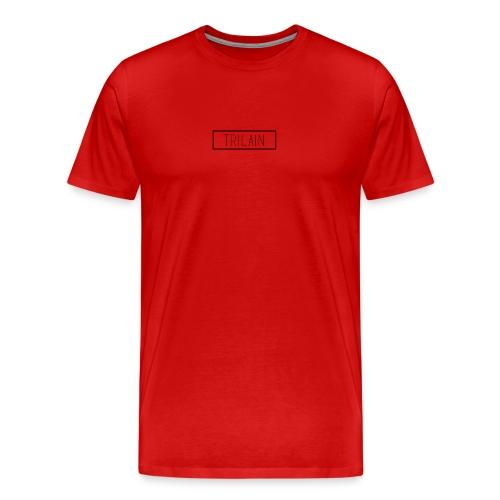 Trilain - Box Logo T - Shirt White - Mannen Premium T-shirt