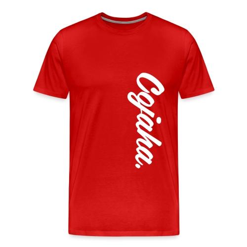 Cojaha. Logo White - Men's Premium T-Shirt