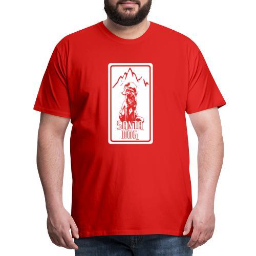 SANTA DOG , WEIHNACHTEN , HOODIE , GESCHENK , P - Männer Premium T-Shirt