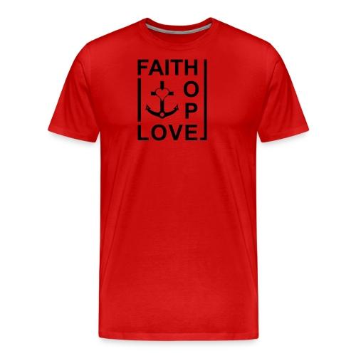 Faith, Love, Hope, mit Herz transparent - Männer Premium T-Shirt
