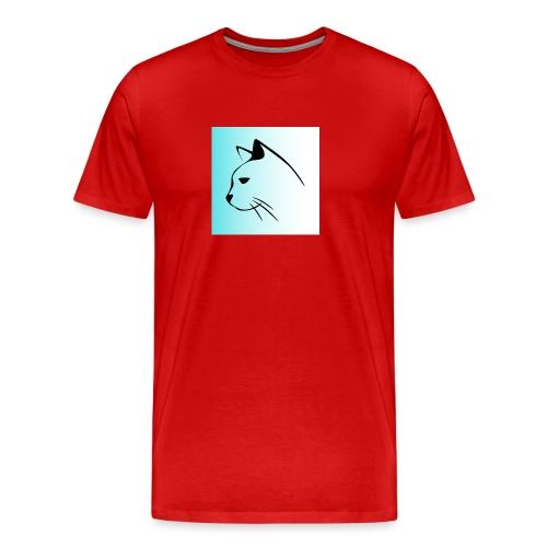 Kattsiluett turkos - Premium-T-shirt herr