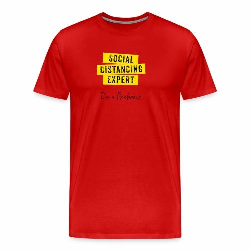 Social Distancing Expert - Mannen Premium T-shirt