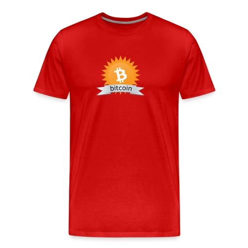 Bitcoin logo - Mannen Premium T-shirt