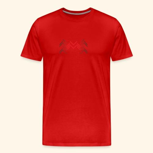 Lineas burdeos - Camiseta premium hombre