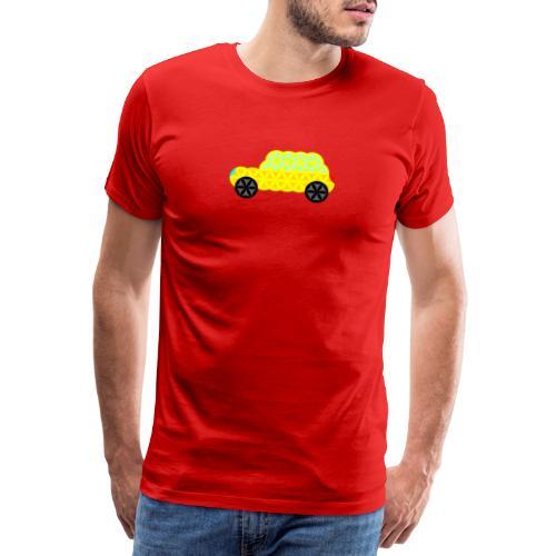 The Car Of Life - 02, Sacred Shapes, Yellow. - Men's Premium T-Shirt