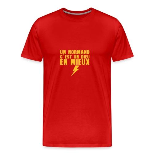 un normand dieu en mieux foudre - T-shirt Premium Homme
