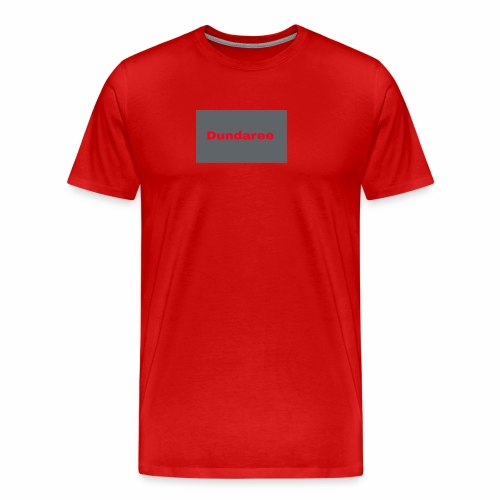 red dundaree t-shirt - Men's Premium T-Shirt