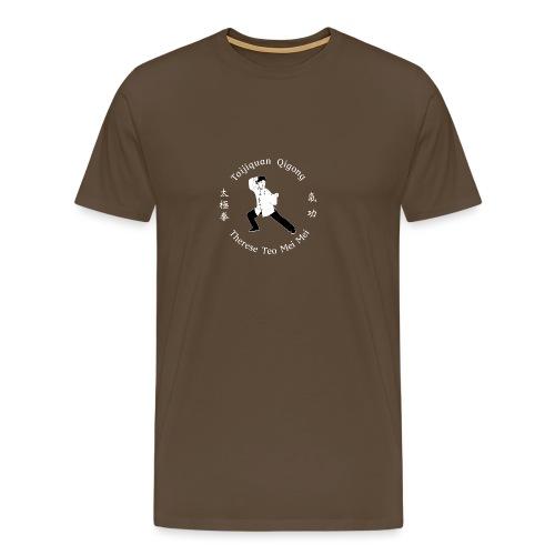 Teo Mei Mei White Logo - Premium-T-shirt herr