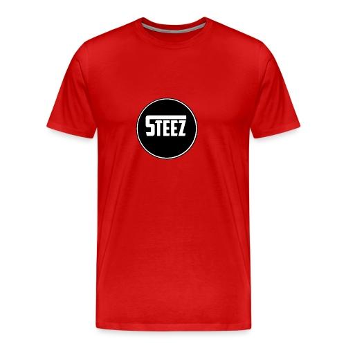 Steez logo white - Mannen Premium T-shirt