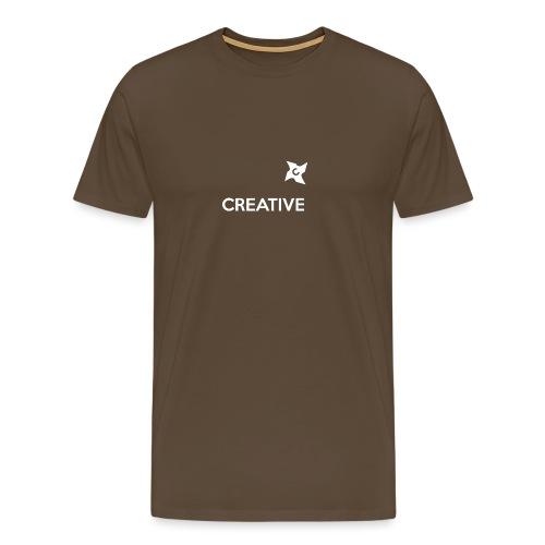 Creative simple black and white shirt - Herre premium T-shirt
