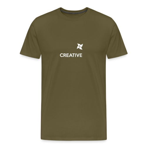 Creative simple black and white shirt - Herre premium T-shirt