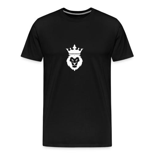 Lion_Logo_with_Crown_St--rre_bild_-white- - Premium-T-shirt herr