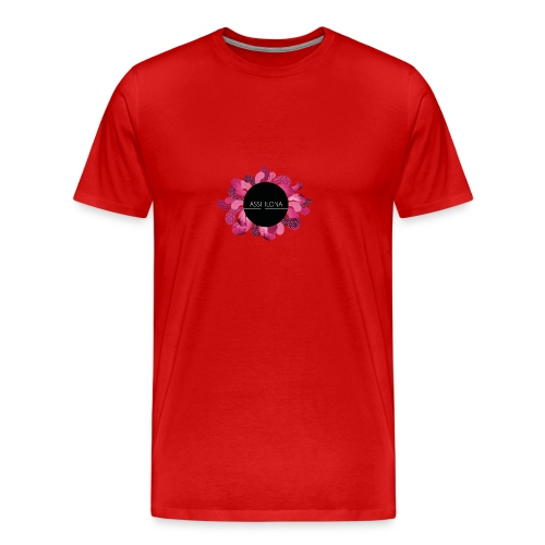 Lasten t-paita punaisella logolla - Miesten premium t-paita