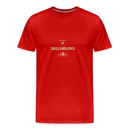 Jallublogi muki musta - Miesten premium t-paita