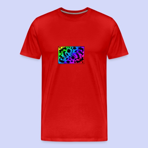 Rainbow doodle - Female shirt - Herre premium T-shirt