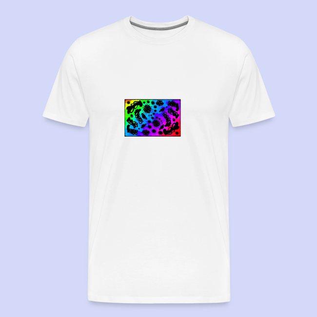 Rainbow doodle - Female shirt