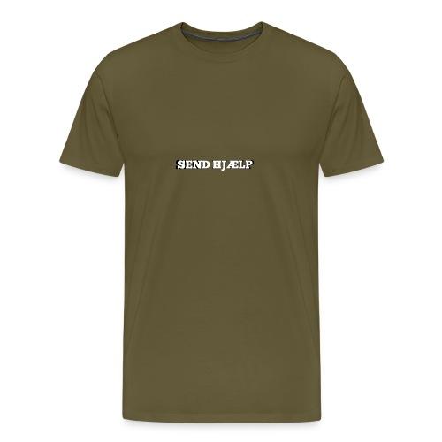 SEND HJÆLP T-shirt - Herre premium T-shirt