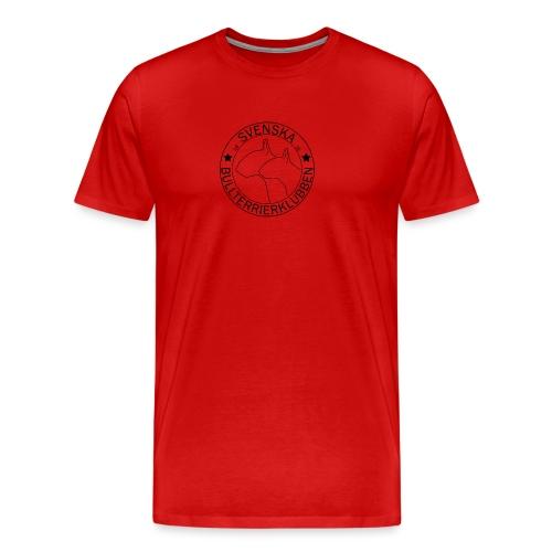 Stor genomskinlig SvBtk logga - Premium-T-shirt herr