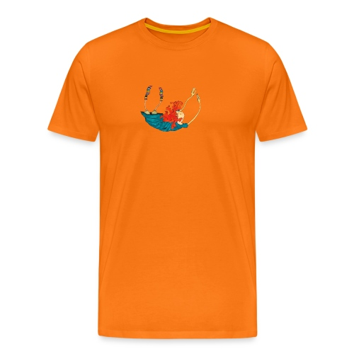 Frit fald - Herre premium T-shirt