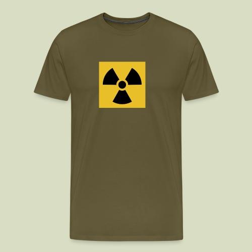 Radiation warning - Miesten premium t-paita
