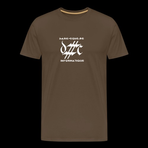 Dark-Code Gothic Logo - T-shirt Premium Homme
