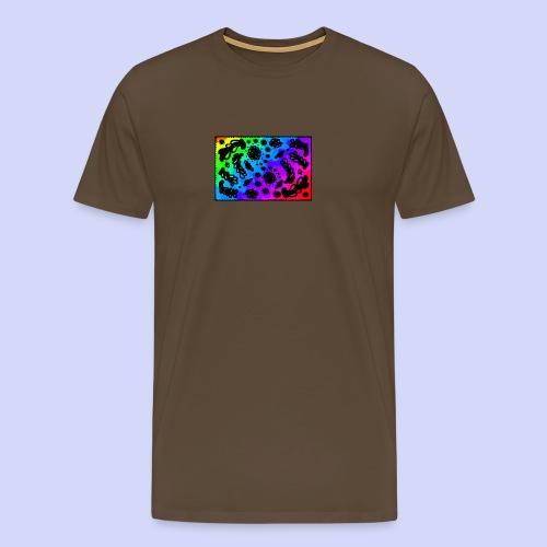 Rainbow doodle - Female shirt - Herre premium T-shirt