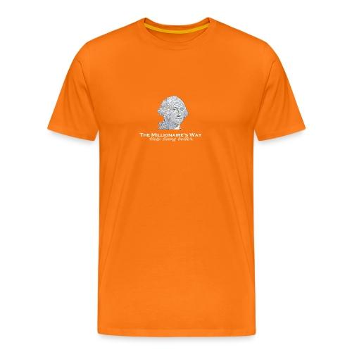 Il nostro logo in bianco - Maglietta Premium da uomo