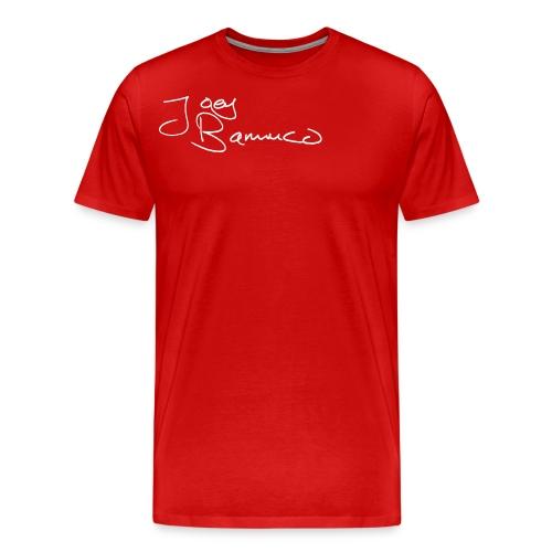 JoeyBamuco White Signature - Miesten premium t-paita