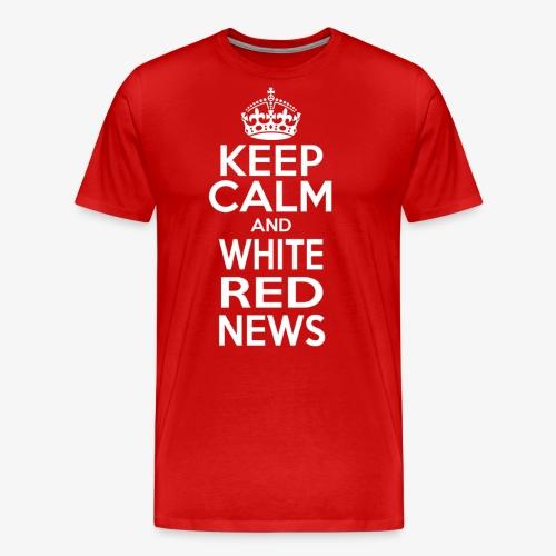 Logo bianco WRN - Maglietta Premium da uomo