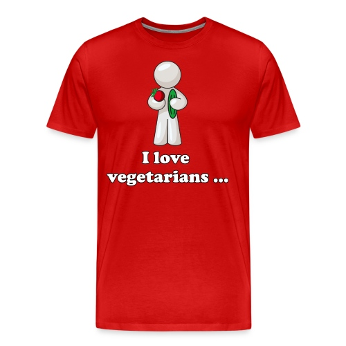 lovevegetariansfront - Mannen Premium T-shirt