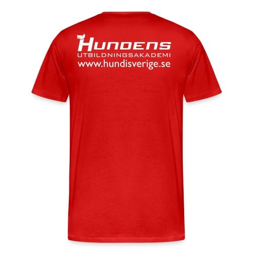 logga rod web - Premium-T-shirt herr
