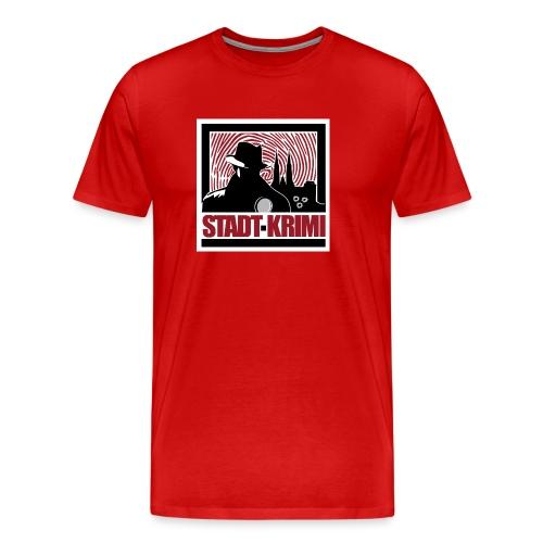 Stadt Krimi Logo - Männer Premium T-Shirt