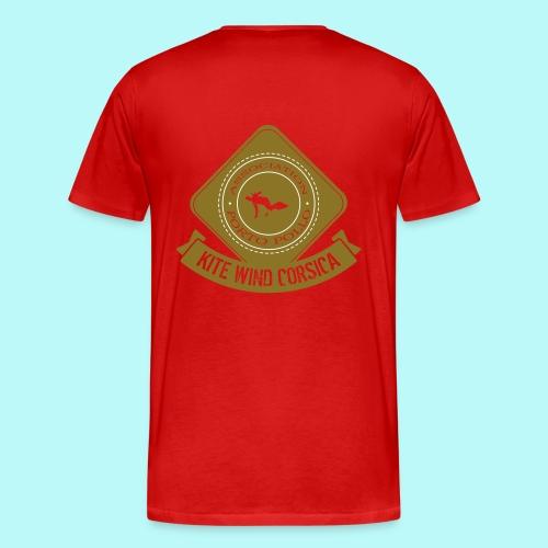 logo marron vintage - T-shirt Premium Homme